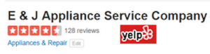 Yelp Reviews of E&J Appliance Repair Service